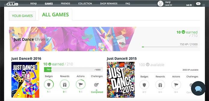 Lista de jogos do Ubisoft Club (Foto: Reprodução/Felipe Vinha)