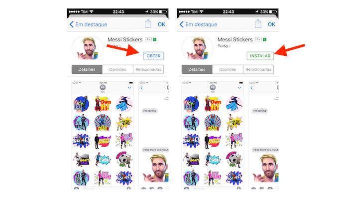 Tela de download de uma extensão na loja de aplicativos iMessage para iPhone (Foto: Reprodução/Marvin Costa)