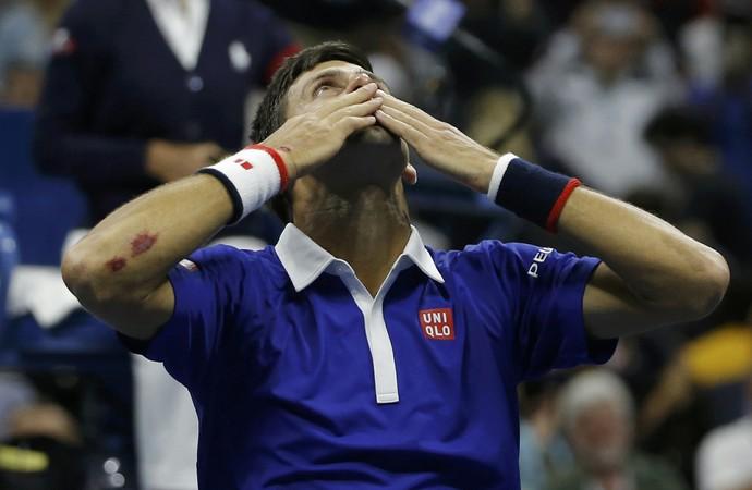 Novak Djokovic campeão do US Open em 2015 (Foto: Reuters)