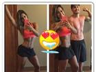 Mayra Cardi posta selfie com o marido e mostra cinturinha