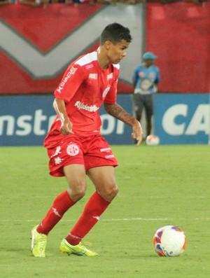 Arthur Henrique, lateral-esquerdo do América-RN (Foto: Canindé Pereira/Divulgação)