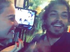 Rayanne Morais e Douglas Sampaio (Foto: Snapchat/ Reprodução)
