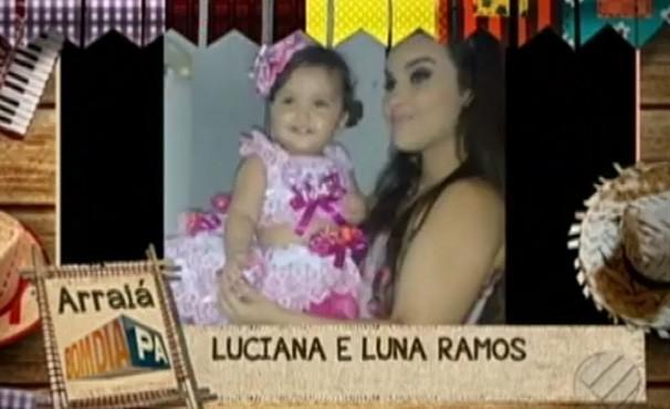 Luciana e Luna Ramos (Foto: Reprodução / TV Liberal)