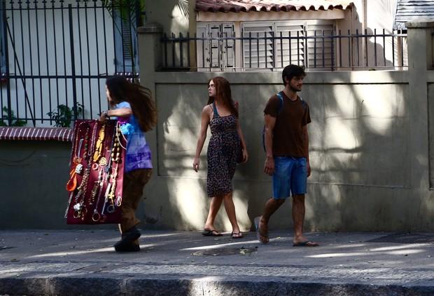 Marina  Ruy Barbosa grava cenas no Centro do Rio (Foto: Gabriel Reis/ Ag. News)