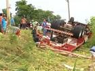 Motorista morre após caminhão capotar em Salto de Pirapora