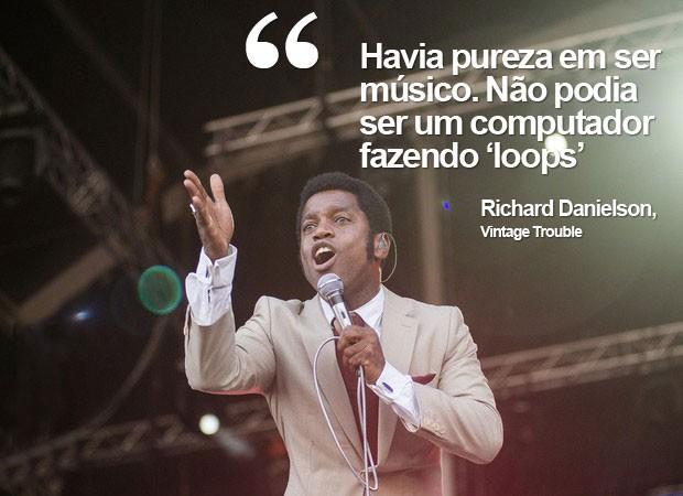 Vocalista do Vintage Trouble canta para o público do Rock in Rio 2013 (Foto: Luciano Oliveira/G1)