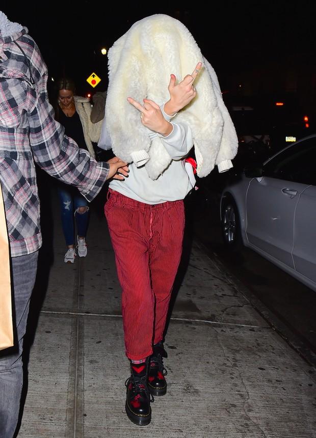 Miley Cyrus em Nova York, nos Estados Unidos (Foto: Grosby Group/ Agência)