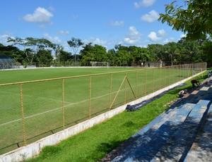 Estádio Aglair Tonelli, em Cacoal, passa por reforma (Foto: Fernanda Bonilha)