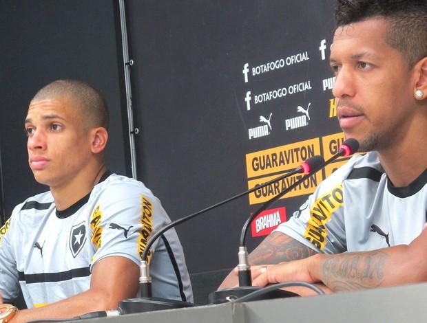 Doria e Antonio Carlos, Botafogo (Foto: Thales Soares / Globoesporte.com)