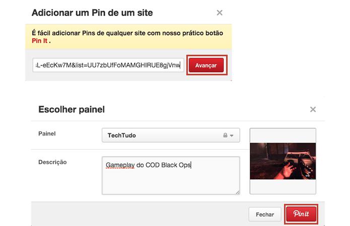 Cole o link, escreva uma descrição e publique um vídeo, slide ou áudio (Foto: Reprodução/Paulo Alves)