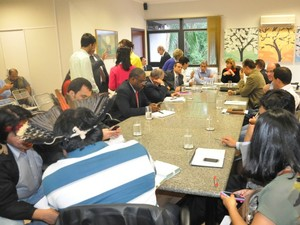 Comissão cria três grupos para resolver questão indígena em MS (Foto: Fernando da Mata/G1 MS)