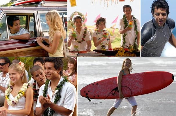 Johnny (Brandon Baker) se aproxima de Val (Rose McIver) e Chirs (Jake T. Austin) não gosta nada  (Foto: Divulgação/Reprodução)