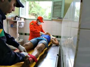 Vítima foi encaminhada para Rio Branco em estado grave (Foto: Alexandre Lima/Arquivo Pessoal)