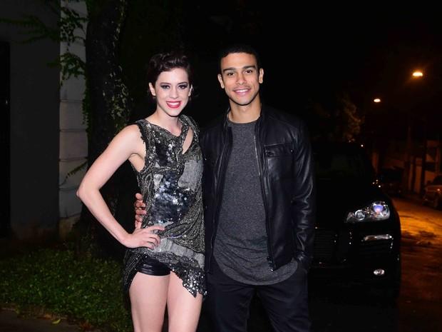 Sophia Abrahão e Sergio Malheiros em festa em São Paulo (Foto: Leo Franco/ Ag. News)