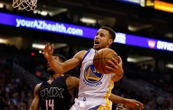 Com Curry letal e Leandrinho afiado, Warriors arrasam Suns em Phoenix