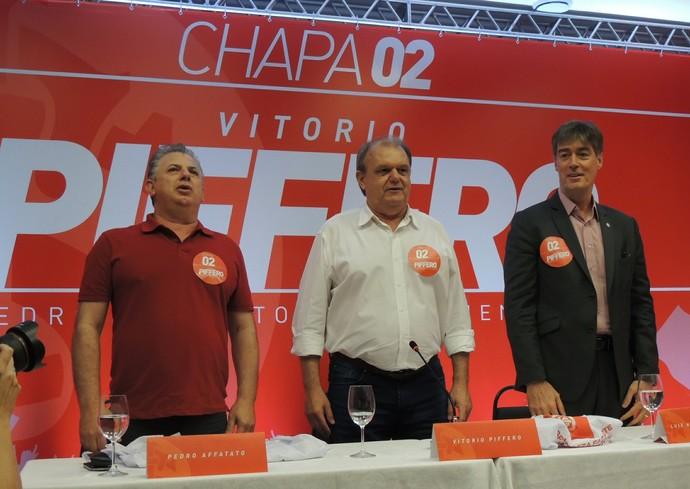 Pedro Affatato Vitorio Piffero Luiz Henrique Nuñez de Oliveira Inter (Foto: Tomás Hammes / GloboEsporte.com)