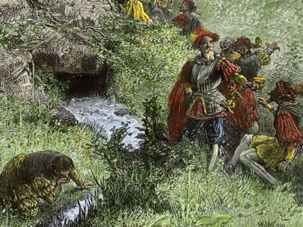 Ponce de León, na terra que batizou de La Florida e que quis conquistar. (Foto: Creative Commons)