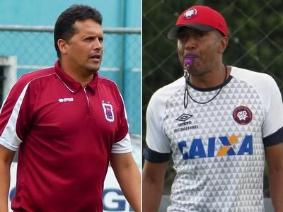 Claudinei Oliveira Paraná Clube Cristóvão Borges Atlético-PR (Foto: Arte/GloboEsporte.com)