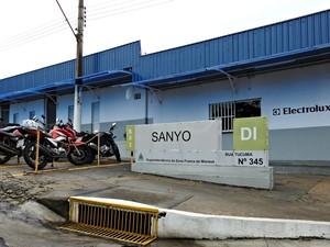 Sanyo Electrolux é uma das empresas com fábricas no PIM (Foto: Adneison Severiano/G1 AM)