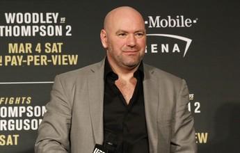 """Dana já acredita em luta entre Conor e Floyd: """"Há muito dinheiro envolvido"""""""