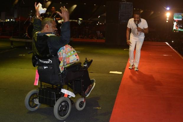Arlindo Cruz e Xande de Pilares (Foto: Felipe Souto Maior/AgNews)
