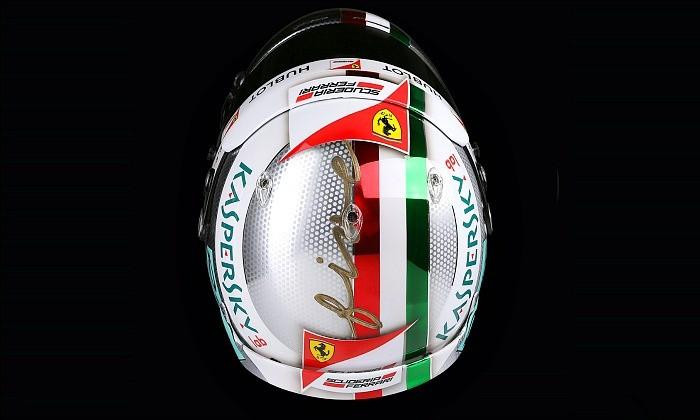 Capacete de Sebastian Vettel para o GP da Itália