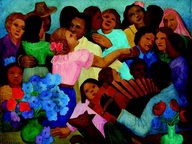 """Os visitantes poderão conferir a obra """"Baile caipira"""", pintada por Tarsila do Amaral (Foto: Divulgação/Unifor)"""