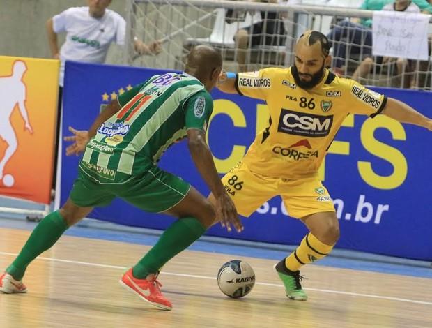 Oitomeia Jaraguá Cabo Frio Liga Futsal (Foto: Beto Costa/CSM)