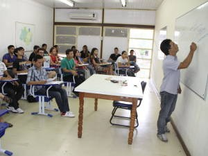 Menos de 1% dos entrevistados cursava o ensino superior (Foto: Ary Souza / O Liberal)