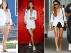 Blazer branco é queridinho de famosas como Angelina Jolie, Rihanna, Thaila Ayala e Deborah Secco