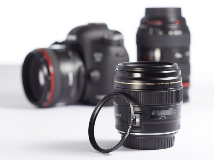 Conheça diferentes tipos de filros para lentes de câmera (Foto   Divulgação AmazonBasics) 2572d2d76b