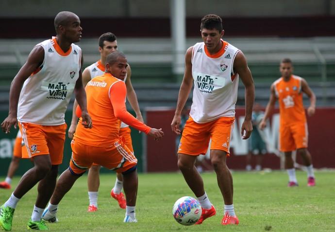 Henrique, Walter, Edson, treino, Laranjeiras, Fluminense (Foto: Nelson Perez/Fluminense F.C.)