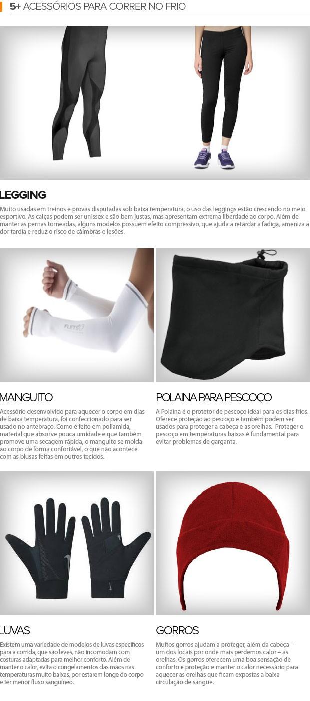 5+ Acessórios para correr no frio (Foto: Editoria de Arte / EUATLETA.COM)