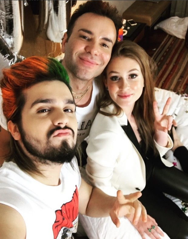 Luan Santana, Matheus Mazzafera e Marina Ruy Barbosa (Foto: Reprodução/Instagram)
