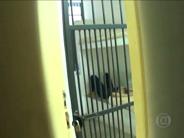 LIdiane Leite está presa desde a tarde desta segunda-feira (28) (Foto: Reprodução/TV Mirante)
