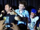 Ai, delícia! Neymar canta com  Michel Teló em Florianópolis