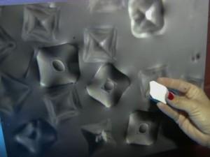 UFSCar realiza exposição com fotos de cristais de vidro e moldes em 3D (Foto: Reprodução/EPTV)
