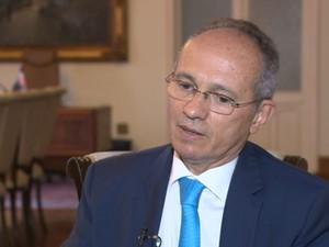 Governador falou sobre crise econômica no Espírito Santo (Foto: Reprodução/ TV Gazeta)