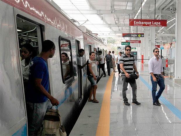 Estação Bonocô do metrô de Salvador é inaugurada (Foto: Pedro Moraes/Gov Bahia)