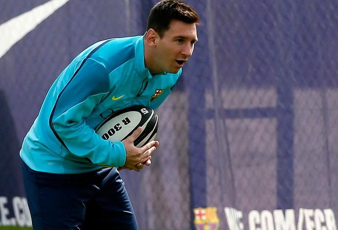 messi barcelona treino (Foto: Agência Reuters)