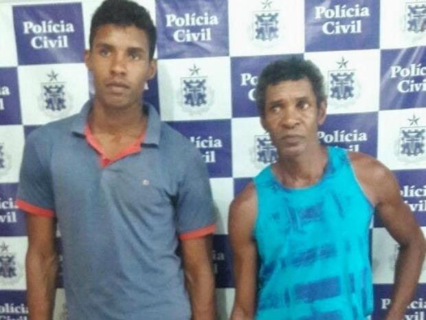 Pai e filho são presos em Amargosa (Foto: Divulgação / Polícia Civil)
