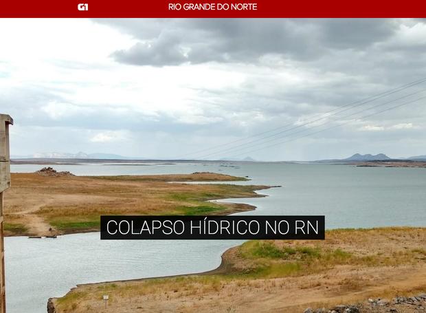 Rio Grande do Norte enfrenta seca histórica (Foto: G1 RN/ Reprodução)