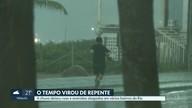 Chuva pegou carioca de surpresa