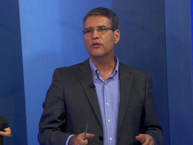 Francisco Júnior, debate, TV Anhanguera, Goiás (Foto: Reprodução/TV Anhanguera)