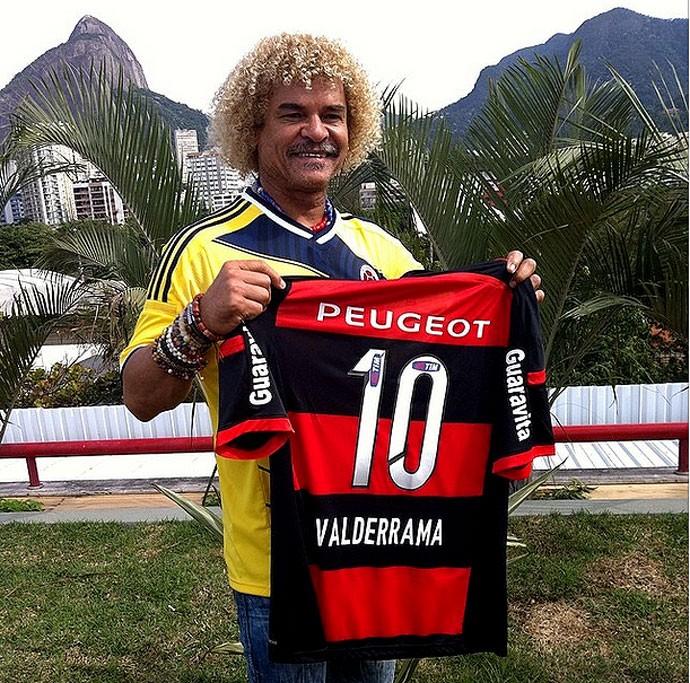 Valderrama Colômbia camisa flamengo gávea (Foto: Reprodução / Instagram)