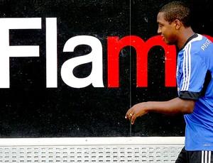 Renato Abreu treino Flamengo (Foto: Cezar Loureiro / Agência O Globo)