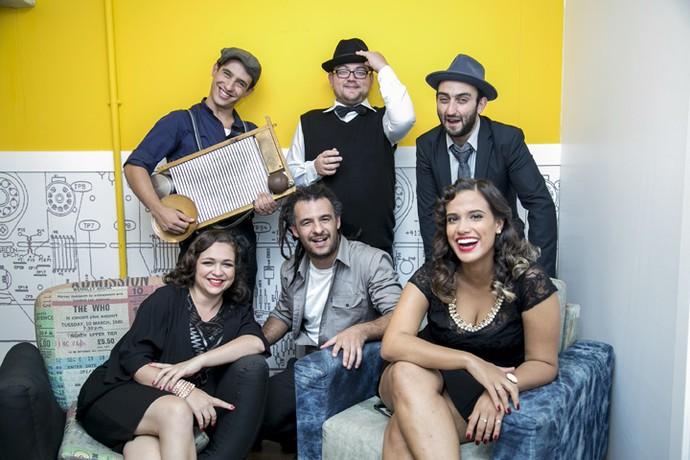 Instrumento faz sucesso nos shows da banda (Foto: Isabella Pinheiro)