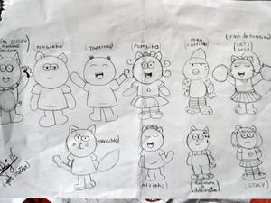 Aos 11 anos, menina cria quadrinhos em Rio Branco (Foto: Caio Fulgêncio/G1)