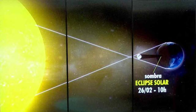 Primeiro eclipse solar de 2017 acontece neste domingo (26) (Foto: Reprodução/ Arte/ TV Globo)