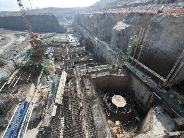 1ª Turbina Belo Monte Casa de Força Usina Hidrelétrica Pará (Foto: Divulgação/Norte Energia)